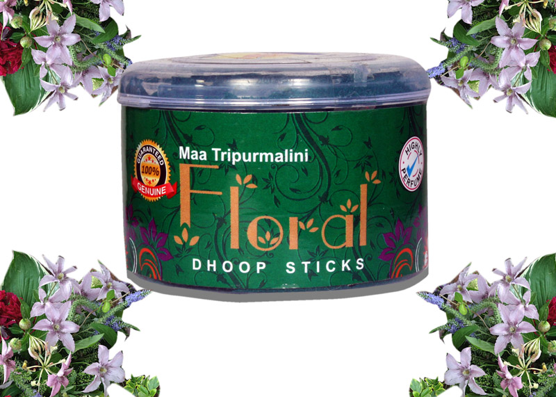 Floral Dhoop Sticks (Pack of 4)